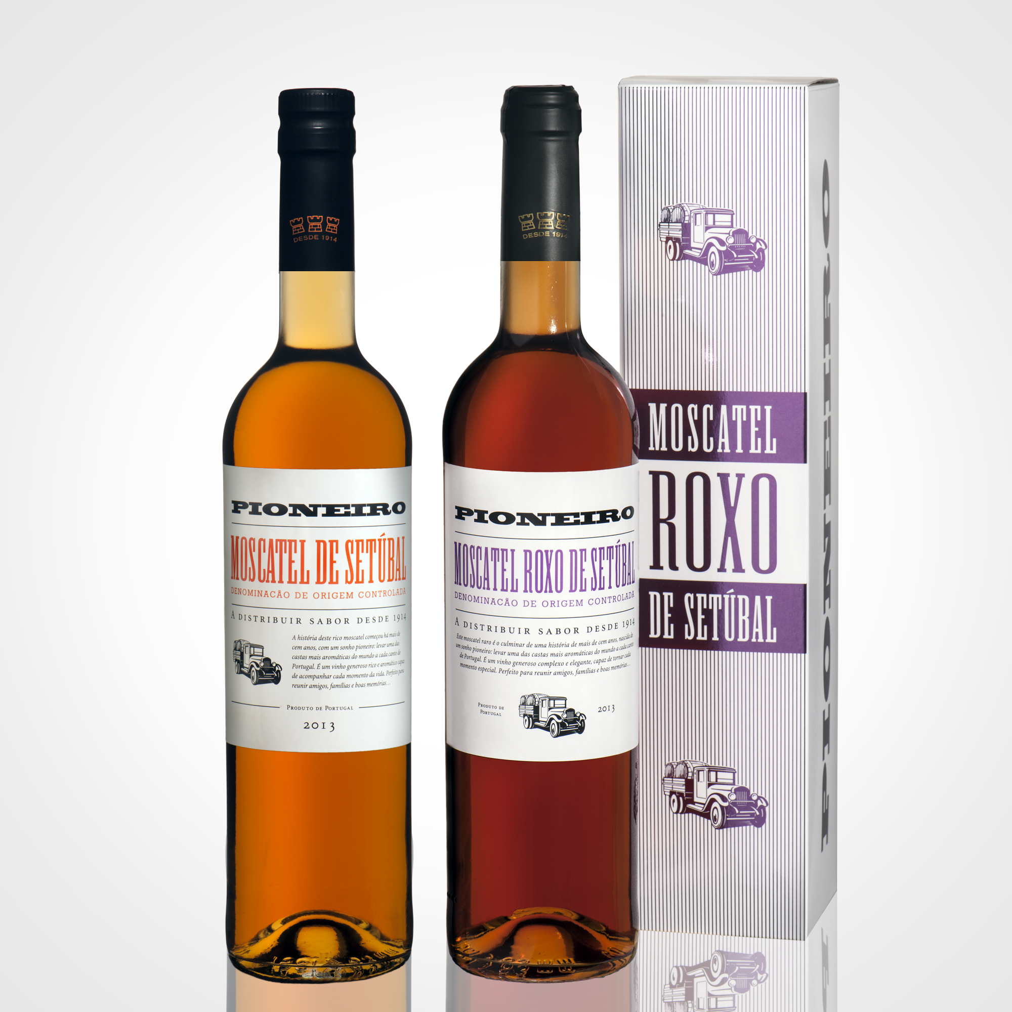 Packaging moscatel Pioneiro by Wine & Shine