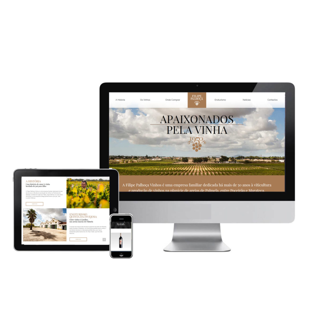 website Filipe Palhoca Vinhos by Wine & Shine